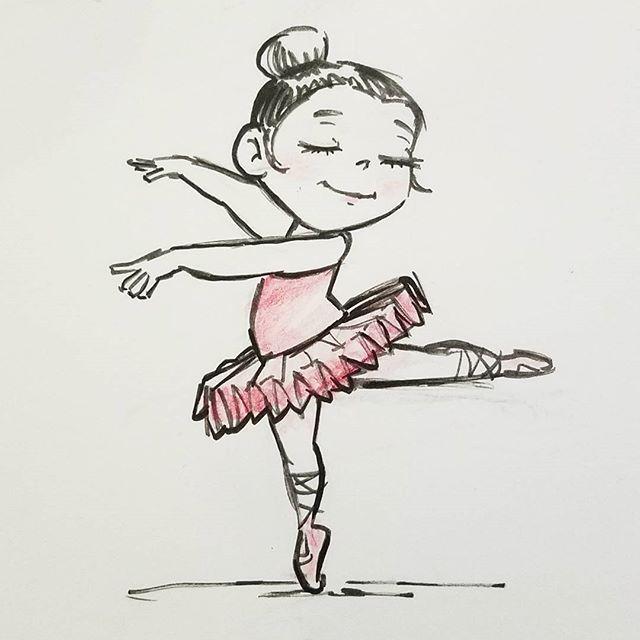 Прикольный рисунок балерины