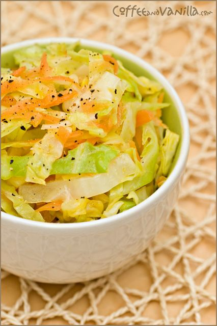 Caribbean Style Steamed Cabbage with Carrots