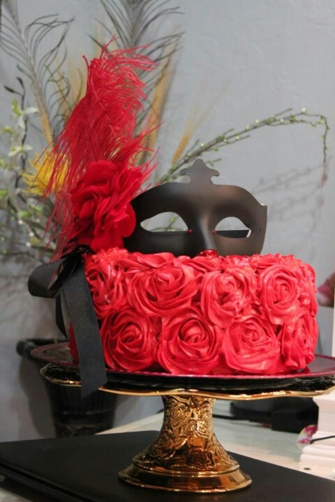 Masquerade Cake for a Quinceanera.