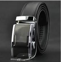 By Pietro Braga design  Genuine  Black Leather   with Automatic  buckle ( silver )