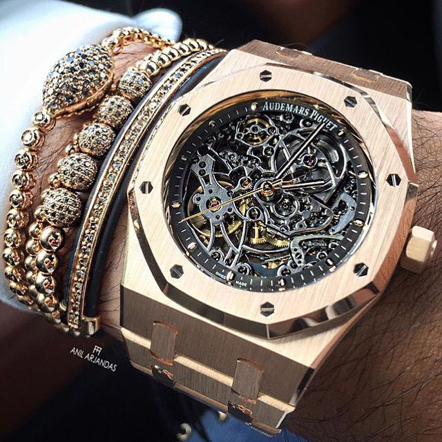 Audemars Piguet Royal Oak Skeleton Pink Gold Audemars