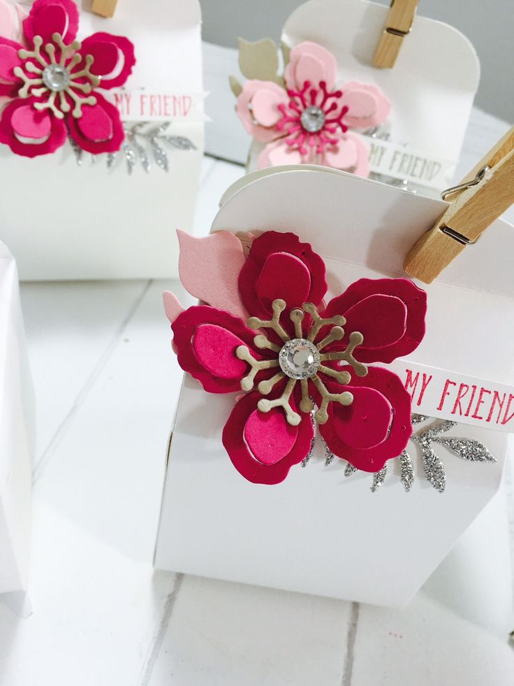 Botanical Blooms and Bakers Box thinlits die team gifts by Stampin' Up! Rhoda Macpherson UK Demo