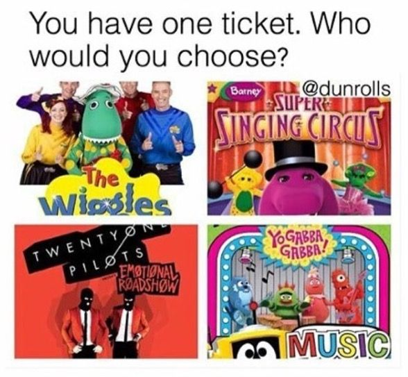 Is this a serious question? Why would someone ask this. It's obviously the wiggles
