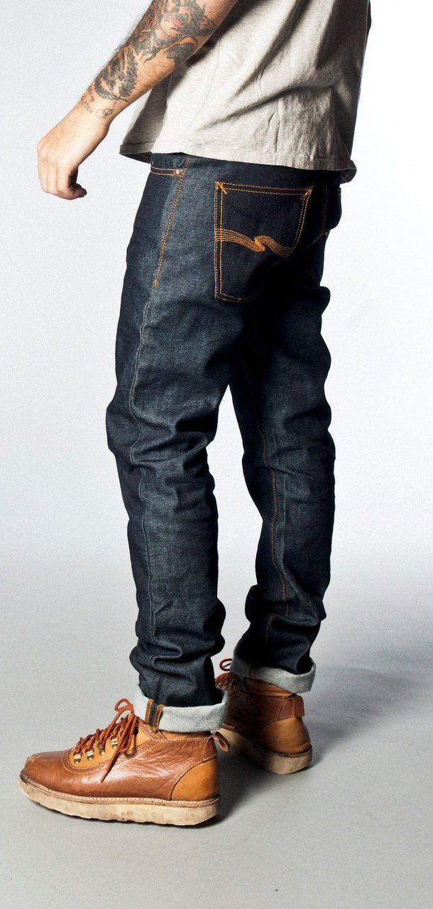 """""""Grim Tim Dry Dirt Organic"""" men #denim #jeans from Nudiejeans."""