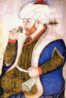 sultan Mehmet II, peinture ottomane XVsiecle, Konstantinople ( as this became Istanbul )