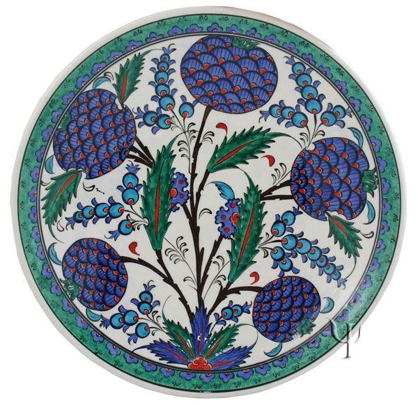 Iznik Design Ceramic Plate - Classical Iznik yurdan.com