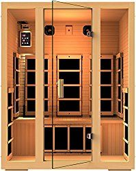 Buy This JNH Lifestyles Joyous 3 Person Canadian Hemlock Wood 8 Carbon Fiber Heaters with deep discounted price online today.