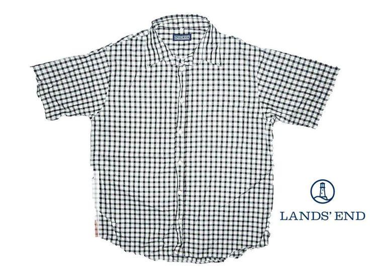 Lands End Fekete-fehér kockás ing (L)