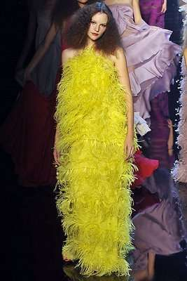 Thanksgiving Fashion: The Giambattista Valli Spring 2010 Collection is Feathered