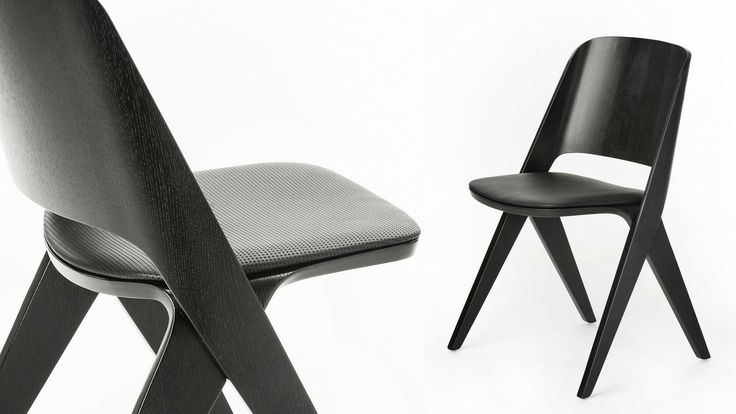 Black Lavitta Chair with Leather Upholstery