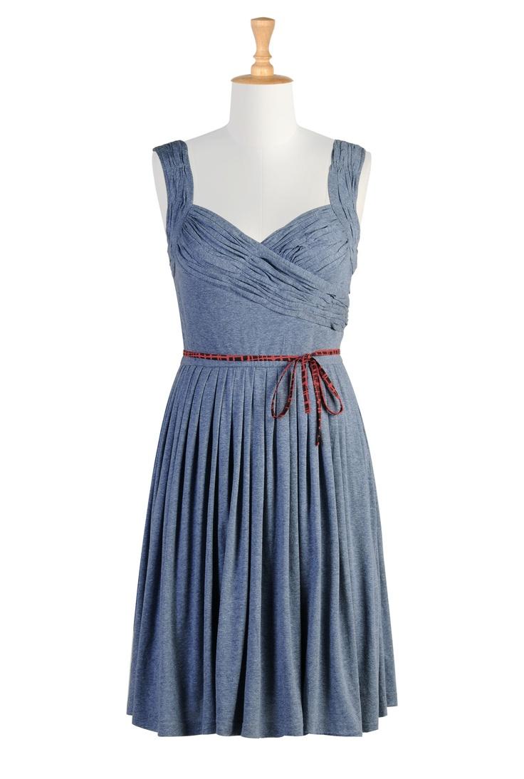 'Sweetheart of a dress' in Demin Blue