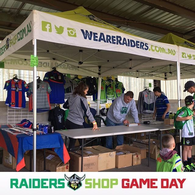 Raiders Shop is at the Seiffert trial game today, visit us under the Southern gr...