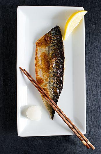 Japanese salt grilled mackerel