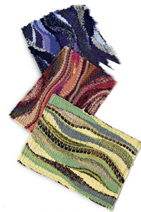 Pin weaving: Combine yarn colors, textures, and fibers for eye-catching results.