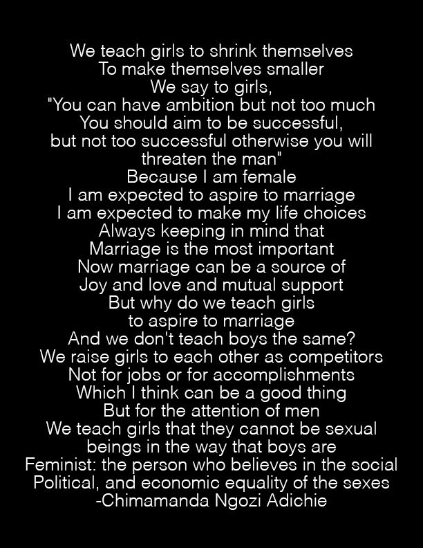 Why we should all be feminists