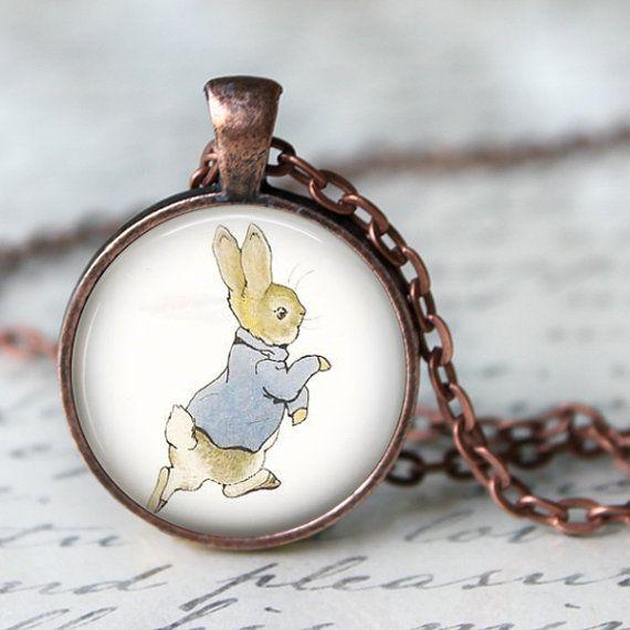 BEATRIX POTTER Pendant Necklace  Peter Rabit  by LiteraryArtPrints #literary #necklace