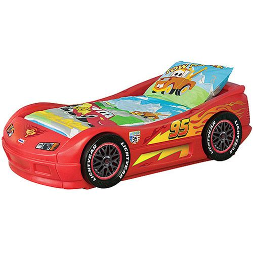 Purchase the Disney Cars - Lightning McQueen Toddler Bed for less at Walmart.com. Save money. Live better.