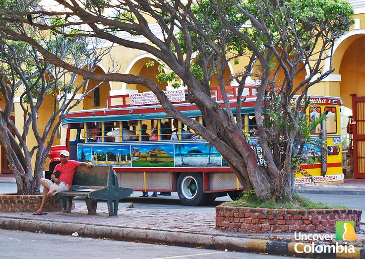 """Chiba"" a very traditional bus in Cartagena - Colombia"