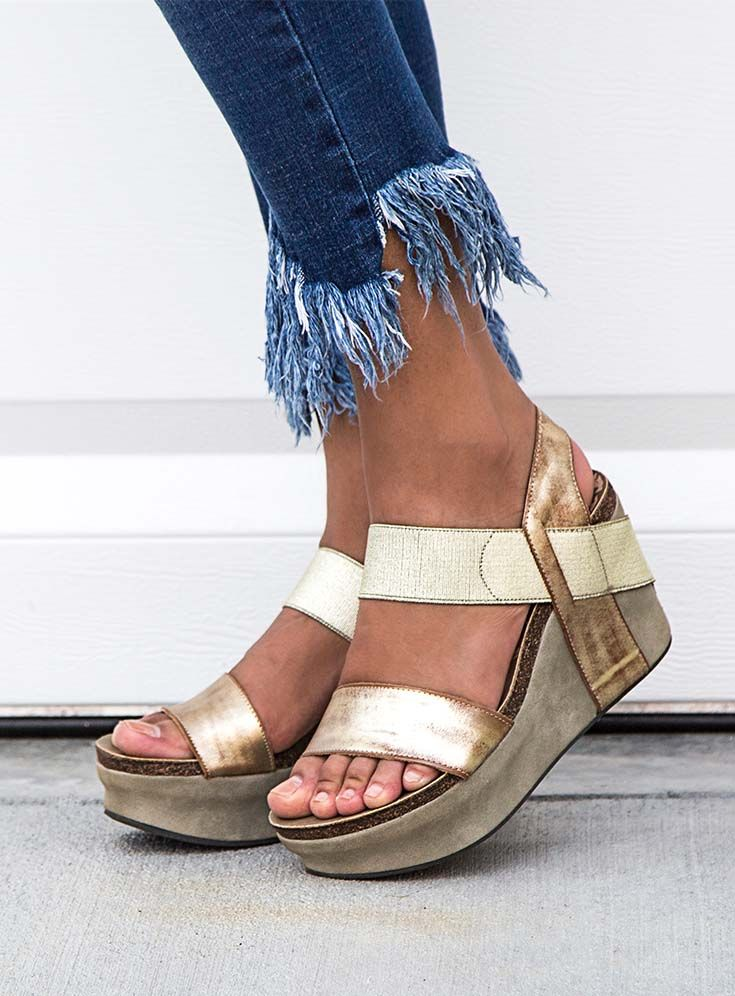 b2f746f1e0b These stylish and comfortable platform wedges are an absolute must-have for  any college fashionista.  sandals  shoes  women  fashion  style