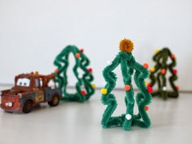 make mini Christmas trees tutorial
