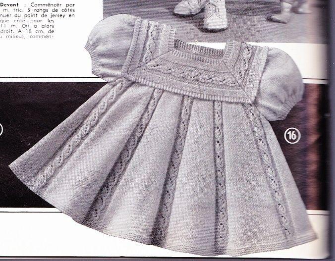 Extrait de tricotons sa layette N° 57 de 1962 - Robe en forme.pdf