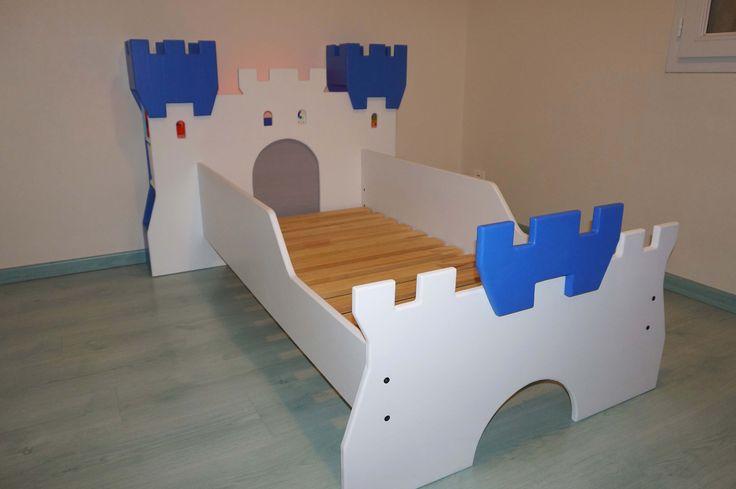 Lit Château Fort, avec bibliothèque et...