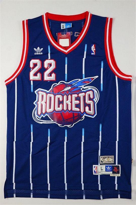 37a0ad1daab Men 22 Clyde Drexler Jersey Black Houston Rockets Swingman Jersey ...