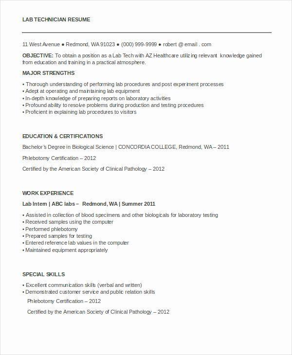 Pin Di Example Computer Technician Resume Samples