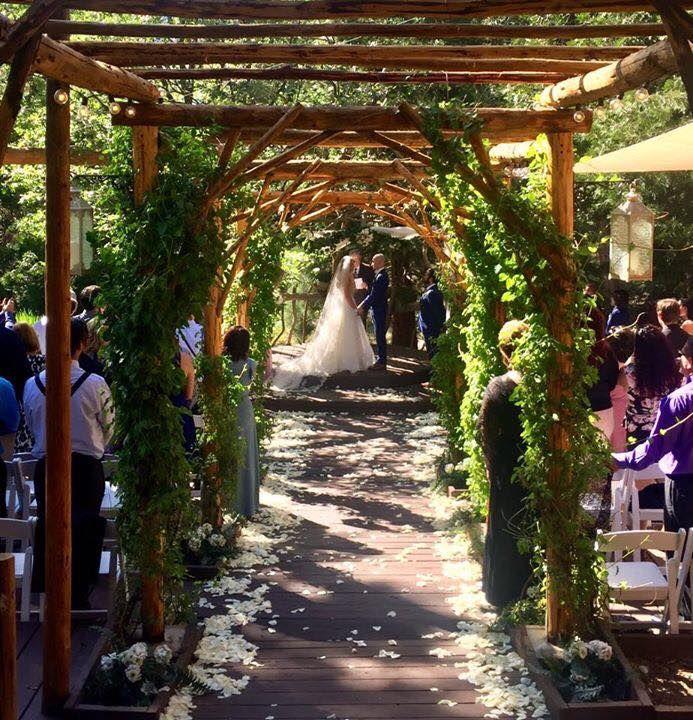 Pine Rose Weddings Aisle At Hidden Creek Forest Wedding Venue Rose Wedding Forest Wedding