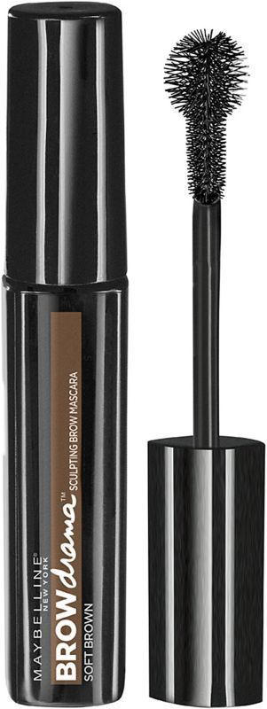 Maybelline New York Eye Studio Brow Drama Sculpting Brow Mascara is Maybelline's first brow mascara that defines arches with the first-ever Sculpting Ball Brush. A colored gel tints brows and provides an even, natural, comfortable hold..