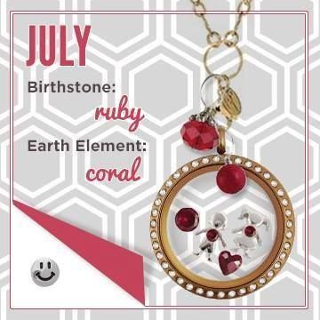 origami owl locket july birthstone examples find erin