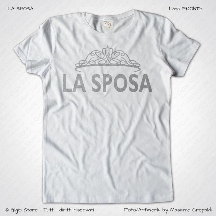 Magliette Sposa Addio al Nubilato T-Shirt Matrimonio colore Bianco Stampa Personalizzata Argento Taglia XS-S-M-L-XL-XXL