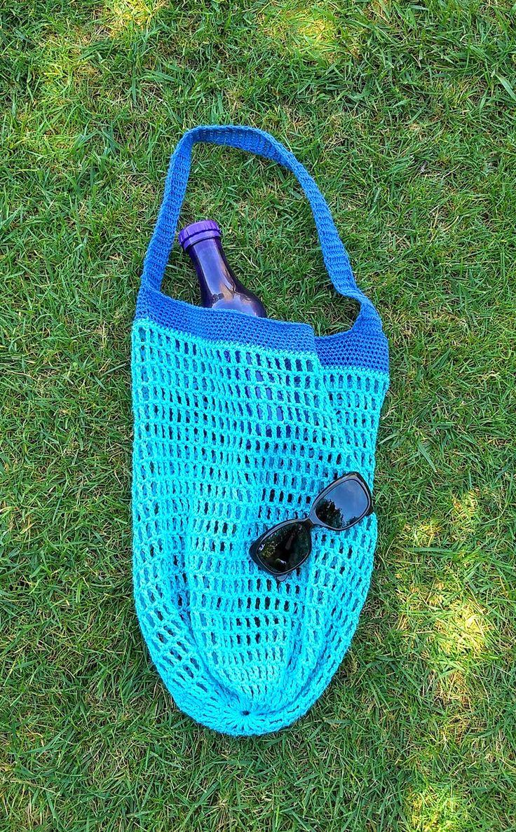 """""""Market bag"""" a crochet. Ideal para la playa o piscina"""