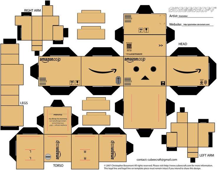 amazon box robot i love you - Google Search | Craft ...