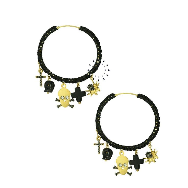 Σκουλαρίκια με Swarovski EKATERINI  135€  http://www.kosmima.gr/product_info.php?products_id=17750
