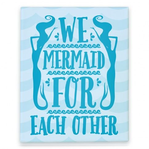 Is your name Ariel? Because we mermaid for each other!