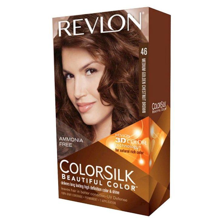 Revlon ColorSilk Hair color in 46 Medium Golden Chestnut Brown- 4 Pieces