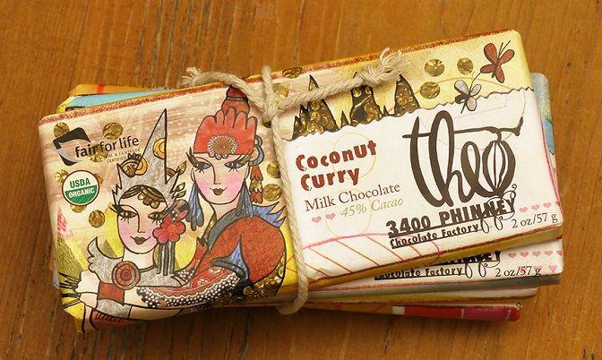 Chocolate with coconut and curry ~ Шоколад с кокосом и карри