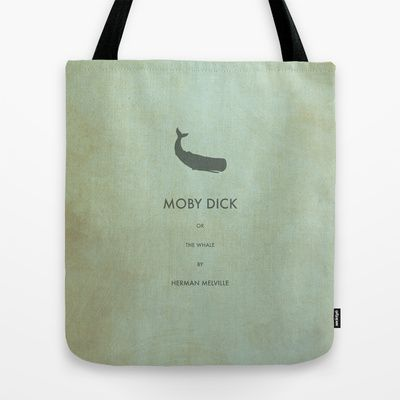Moby Dick or the Whale Tote Bag by OurbrokenHouse - $22.00
