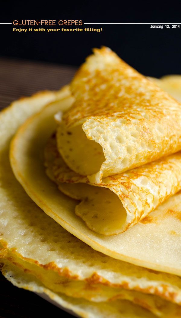 Very Thin Gluten Free Crepes-add more milk to thin batter to crepe consistency... Make with coconut milk