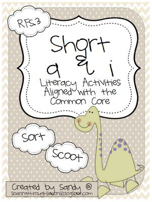 Soaring Through Second Grade: Short a and i Literacy Station { FREEBIE }
