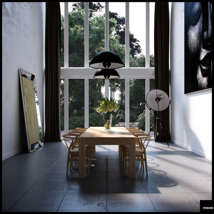 Dining Room Ideas:The High Windows Is Always Amazing Architecture Room Design Formal Diningroom Decor