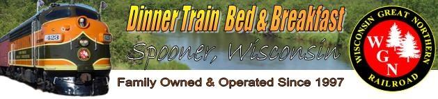 Wisconsin Great Northern Railroad Dinner Trains in Spooner, Wisconsin