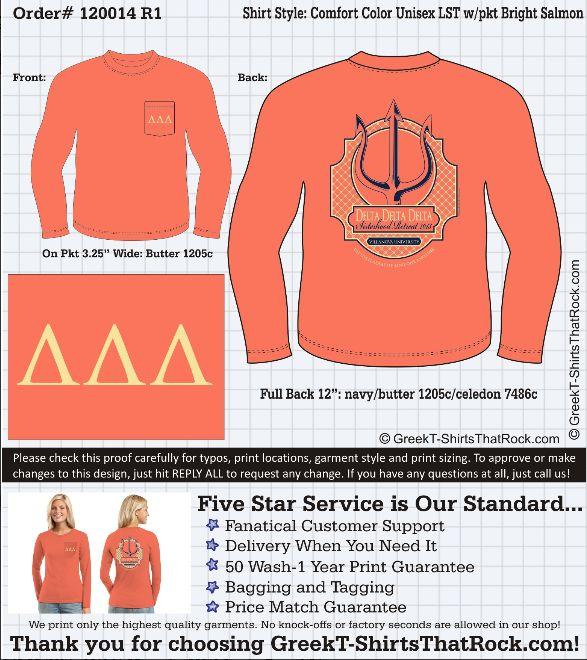 Villanova University Delta Delta Delta Trident Shirt, Sisterhood Retreat @Francesca Russ