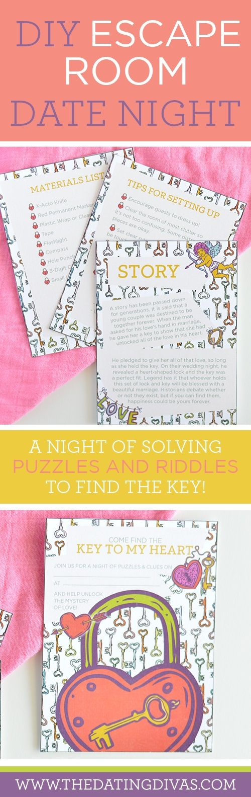 DIY Escape Room date night idea - it's a fun, inexpensive alternative!