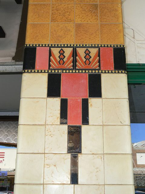 "From Leeton, the ""Art Deco Capitol of Australia."" 119-121 Pine Avenue, Leeton by dct66, via Flickr & Art Deco Buildings"