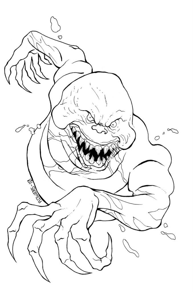 Printable Coloring Pages For Adults Monster Coloring Pages Scary Coloring Pages Halloween Coloring Pages