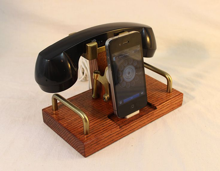 iPhone Dock Phone iPod Dock Phone Charger and by woodguy32 $82