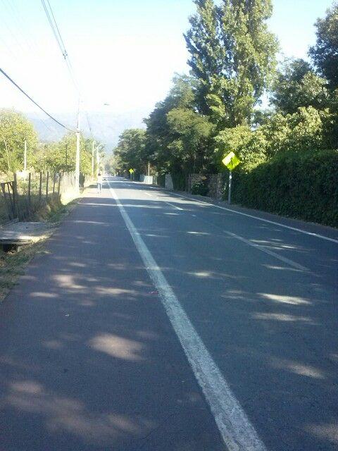 Camino principal Rangue Lguna se Aculeo..