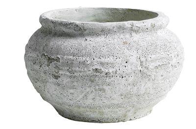 Garden Pot rund hvid Nordal